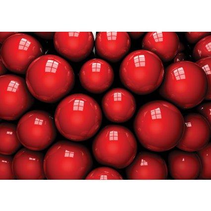 3D Fototapeta Červené koule