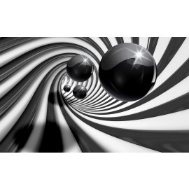 3D Fototapeta Černobílá abstrakce