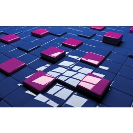 3D Fototapeta Barevné čtverce