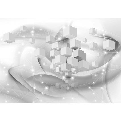 3D Fototapeta Bílá abstrakce