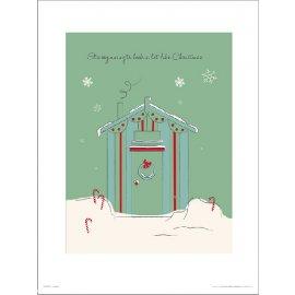 Reprodukce Christmas Hut Green