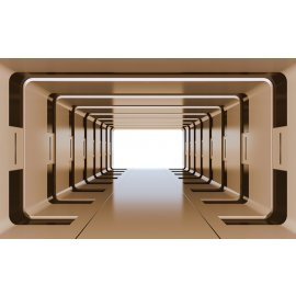 3D Fototapeta Béžový tunel