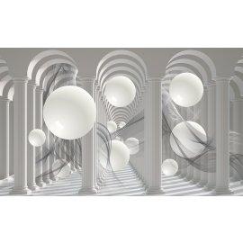 3D Fototapeta Bílé koule