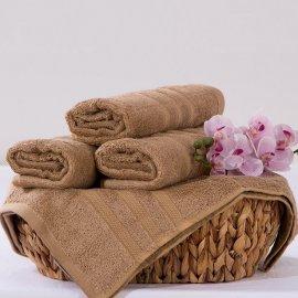 Bambusový ručník Alina - béžová 50 x 90 cm