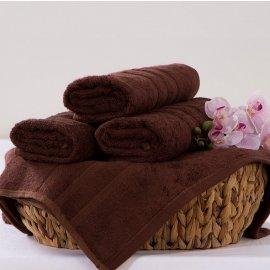 Bambusový ručník Alina - tmavě hnědá 50 x 90 cm