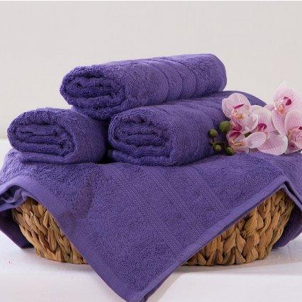 Bambusový ručník Alina - fialová 50 x 90 cm