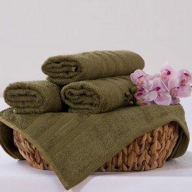 Bambusový ručník Alina - olivová 50 x 90 cm