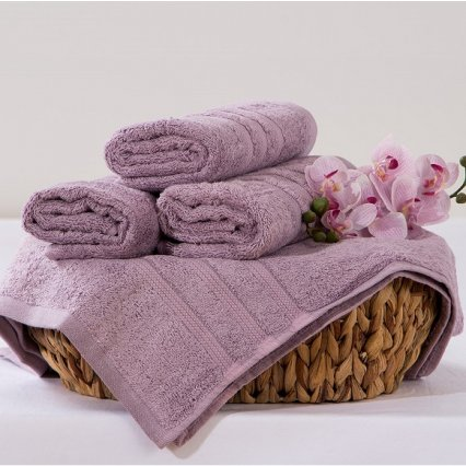 Bambusový ručník Alina - levandulová 50 x 90 cm