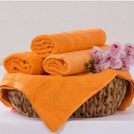 Bambusový ručník Alina - oranžová 50 x 90 cm