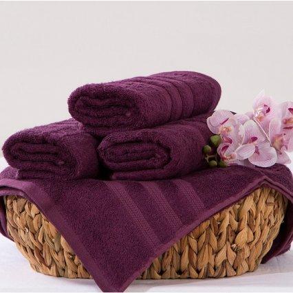 Bambusový ručník Alina - tmavě fialová 50 x 90 cm