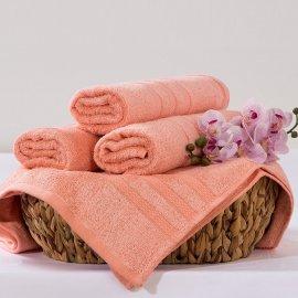 Bambusový ručník Alina - lososová 50 x 90 cm