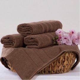 Bambusový ručník Alina - hnědá 50 x 90 cm