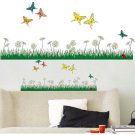 Samolepky na zeď Butterflies Meadow 74312