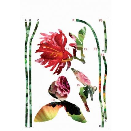 Samolepky na zeď Květiny AGF00404