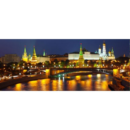 Fototapeta panoramatická vliesová Moscow at night
