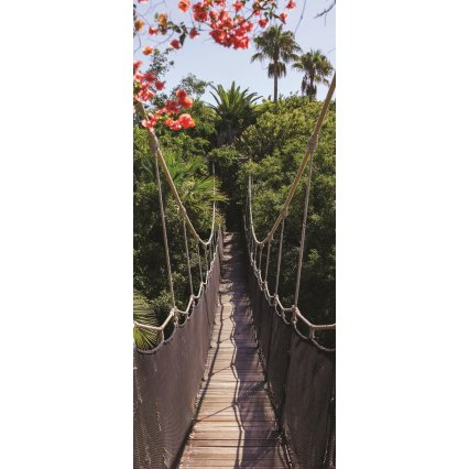 Fototapeta na dveře Bridge in Jungle