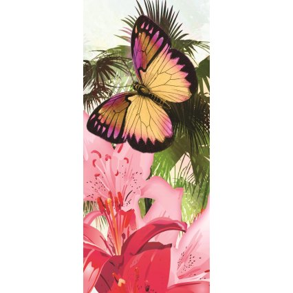 Fototapeta na dveře Colorful butterflies