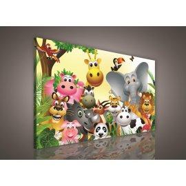Obraz na plátně dětský Zvířátka 100 x 75 cm