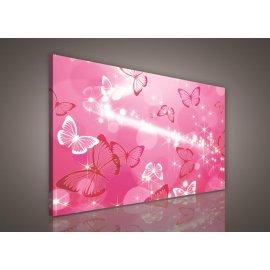 Obraz na plátně dětský Pink Butterflies 100 x 75 cm
