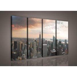Obraz na plátně New York 120 x 80 cm 4-dílný